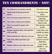 Ten Commandments NOT!